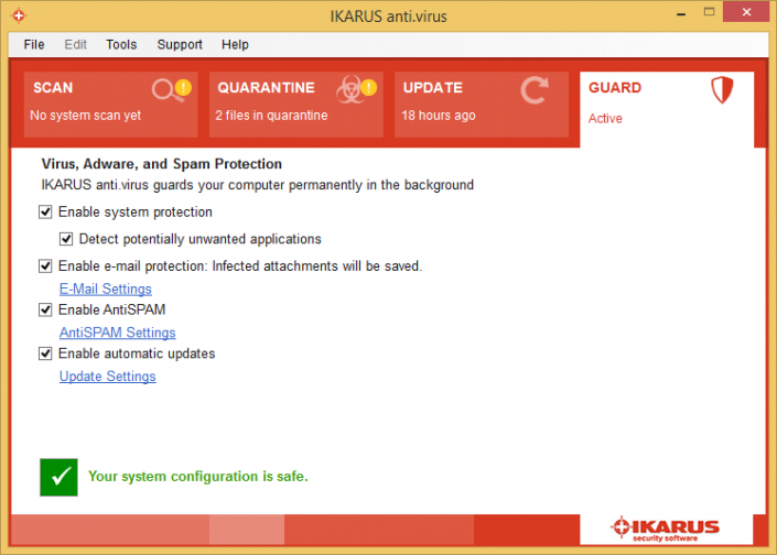 IKARUS anti.virus screenshot