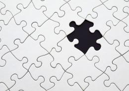 Puzzle mit fehlendem Stein