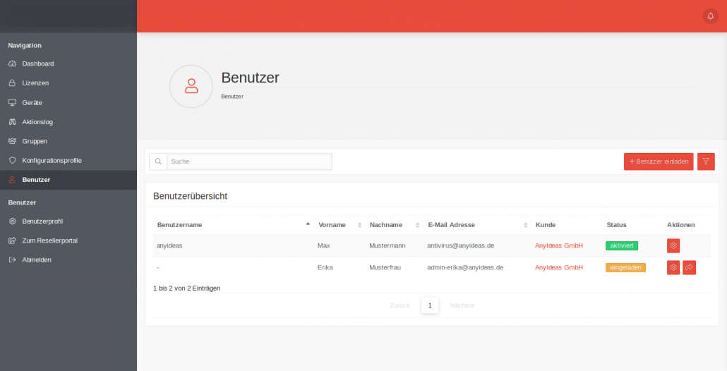 Benutzer-Verwaltung