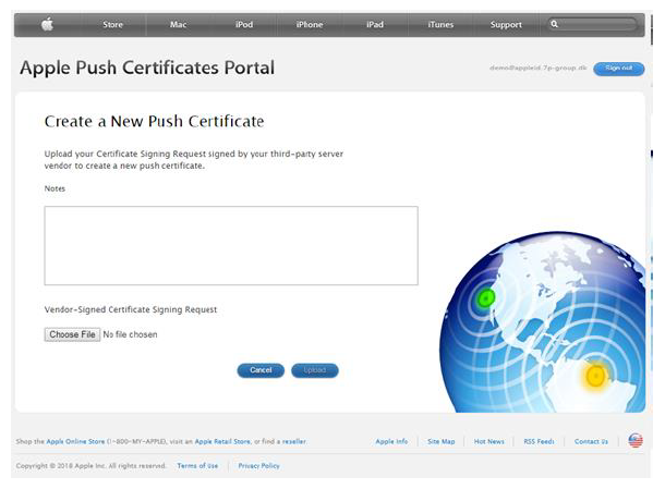 Neues Push-Zertifikat erstellen
