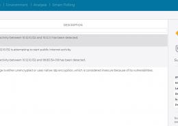 """Die Ansicht """"Alerts"""" im Nozomi Networks Dashboard zeigt die Warnung """"Threat BlackMatter found""""."""